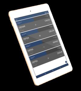 Santova Mobile Application on tablet