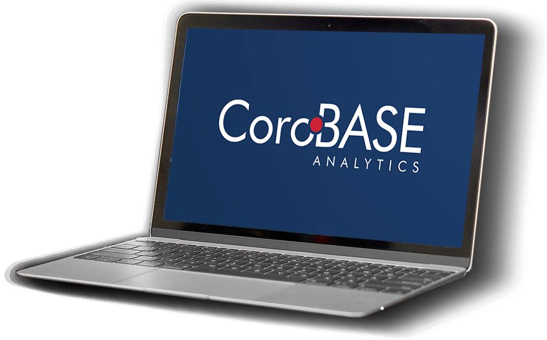 Corobase platform on a laptop