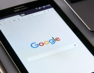 Search Engine Open on a tablet